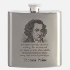 I Bid You Farewell - Thomas Paine Flask