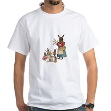 Vintage Easter Bunny with Spring Flowers T-Shirt