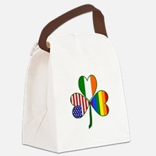 Gay Pride Shamrock Canvas Lunch Bag