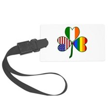 Gay Pride Shamrock Luggage Tag