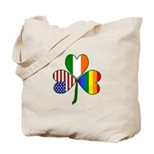 Gay Pride Shamrock Tote Bag