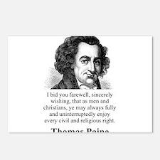 I Bid You Farewell - Thomas Paine Postcards (Packa