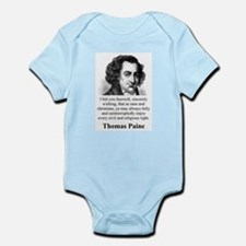 I Bid You Farewell - Thomas Paine Infant Bodysuit