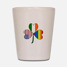 Gay Pride Shamrock Shot Glass