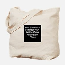 Stick Figure hate Tote Bag