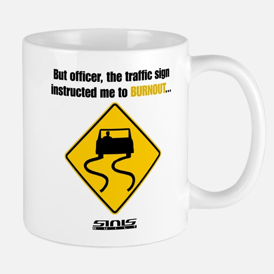 Burnout Traffic Sign Mug