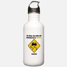 Burnout Traffic Sign Water Bottle