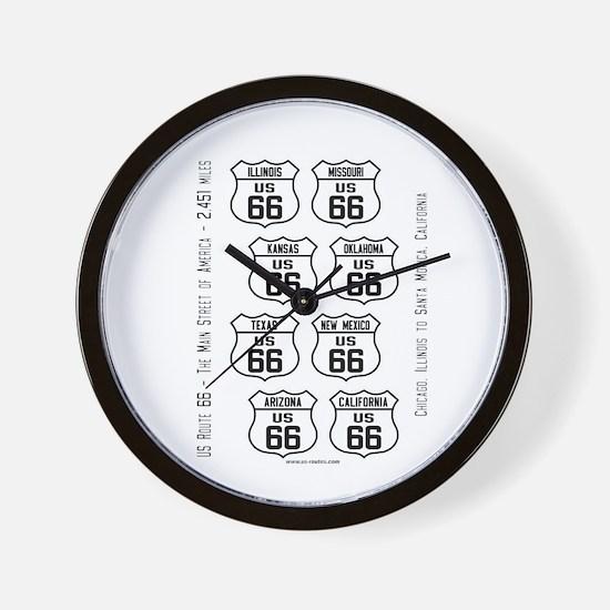 US 66 - Wall Clock