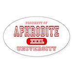 Aphrodite University Oval Sticker