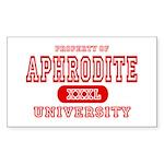 Aphrodite University Rectangle Sticker