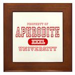 Aphrodite University Framed Tile