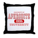 Aphrodite University Throw Pillow