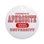 Aphrodite University Ornament (Round)