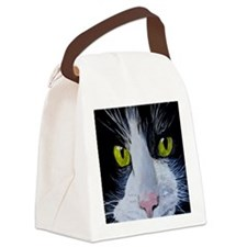 Tuxedo Cat Canvas Lunch Bag