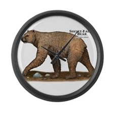 Short-Faced Bear Large Wall Clock