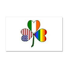 Gay Pride Shamrock Car Magnet 20 x 12