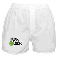 Irish Luck 4 Leaf Clover Boxer Shorts