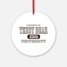 Teddy Bear University Ornament (Round)