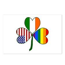 Gay Pride Shamrock Postcards (Package of 8)