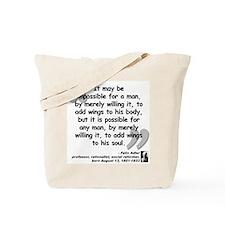 Adler Wings Quote Tote Bag