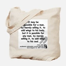 Adler Wings Quote Tote Bag