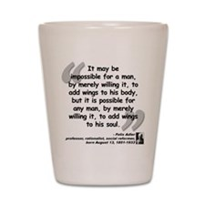 Adler Wings Quote Shot Glass