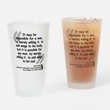 Adler Wings Quote Drinking Glass