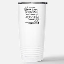 Adler Wings Quote Travel Mug