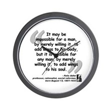 Adler Wings Quote Wall Clock