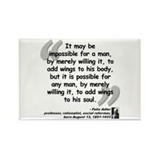 Adler Wings Quote Rectangle Magnet