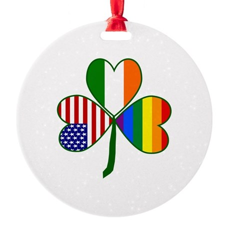 Gay Pride Shamrock Ornament