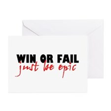 'Win Or Fail' Greeting Cards (Pk of 10)