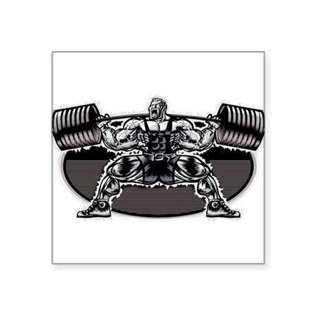 POWERLIFTING SQUAT Oval Sticker