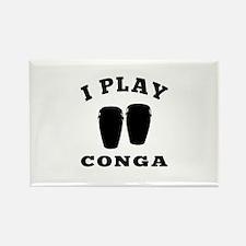Conga designs Rectangle Magnet
