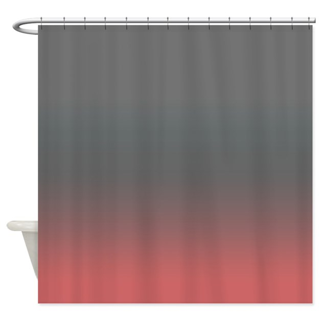 Pink And Gray Shower Curtain By CopperCreekDesignStudio