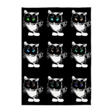 Bright Eyed Cats 5'x7'Area Rug