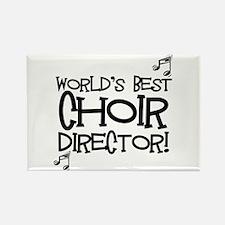 Worlds Best Choir Director Rectangle Magnet