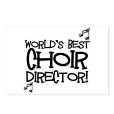 Worlds Best Choir Director Postcards (Package of 8