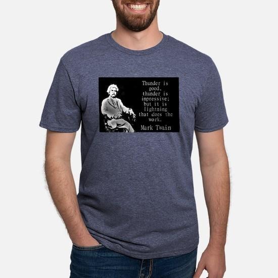 Thunder Is Good - Twain Mens Tri-blend T-Shirt