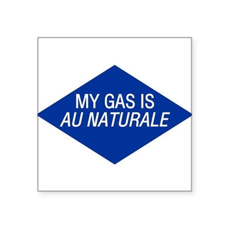 Au Naturale Gas Oval Sticker