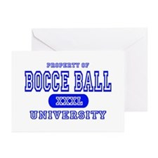 Bocce Ball University Greeting Cards (Pk of 10