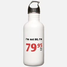 Funny Tax 80th Birthday Water Bottle