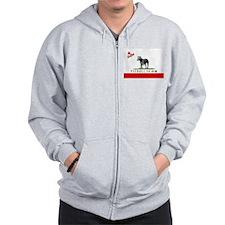 SoCal Pitbull TEAM logo Zipped Hoody