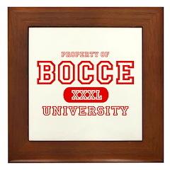 Bocce University Framed Tile