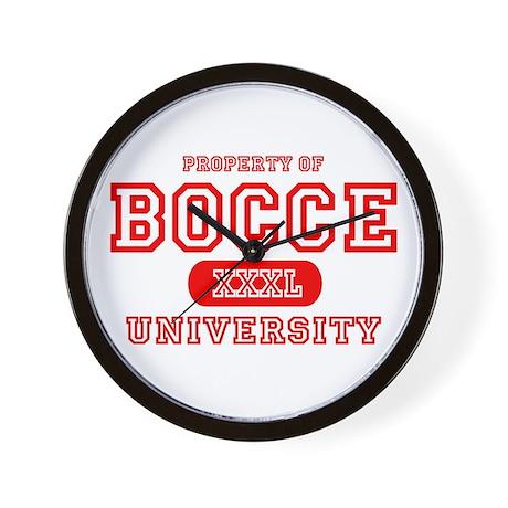Bocce University Wall Clock