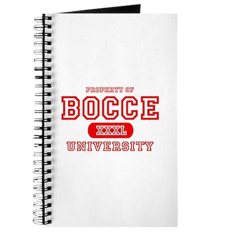 Bocce University Journal