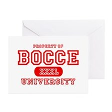 Bocce University Greeting Cards (Pk of 10)
