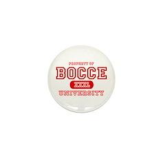 Bocce University Mini Button
