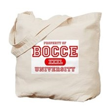 Bocce University Tote Bag