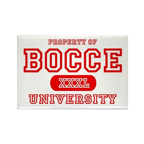 Bocce University Rectangle Magnet (10 pack)